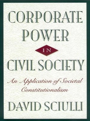 cover image of Corporate Power in Civil Society