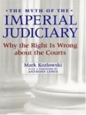 cover image of The Myth of the Imperial Judiciary