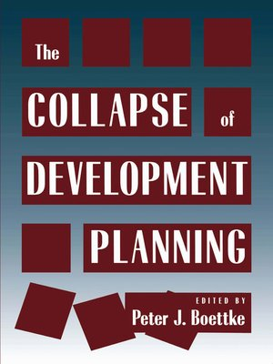 cover image of Collapse of Development Planning