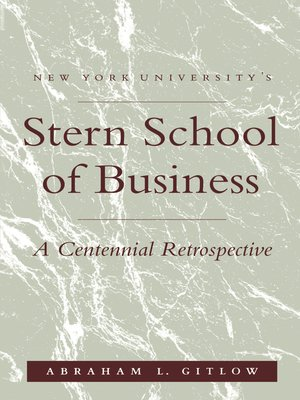 cover image of NYU'S Stern School of Business