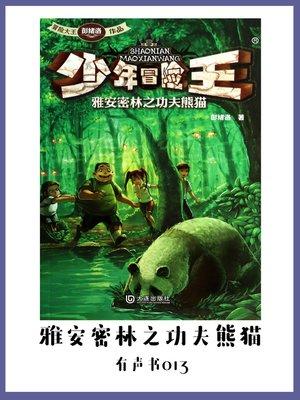 cover image of 少年冒险王:雅安密林之功夫熊猫(有声书13)