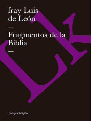 cover image of Fragmentos de la Biblia