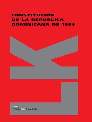 cover image of Constitución de la República Dominicana de 1994