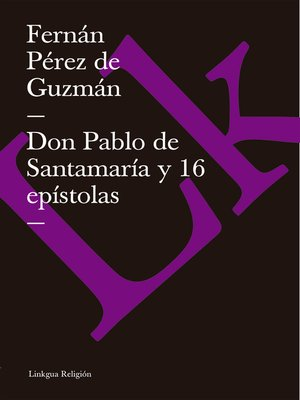 cover image of Don Pablo de Santamaría y 16 epístolas