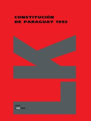 cover image of Constitución de Paraguay de 1992