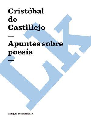 cover image of Apuntes sobre poesía