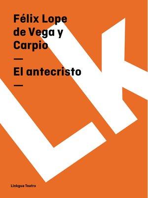 cover image of El antecristo