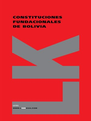 cover image of Constituciones fundacionales de Bolivia