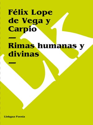 cover image of Rimas humanas y divinas