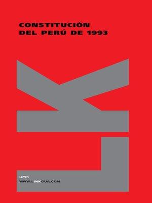 cover image of Constitución del Perú de 1993