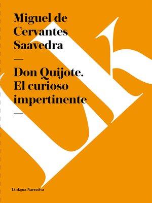 cover image of Don Quijote. El curioso impertinente