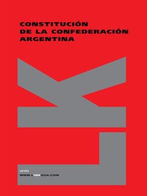 cover image of Constitución de la Confederación Argentina