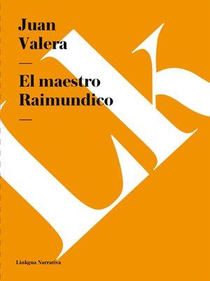 cover image of El maestro Raimundico