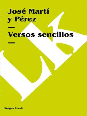 cover image of Versos sencillos
