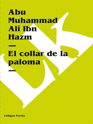 cover image of El collar de la paloma