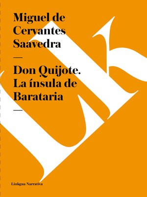cover image of Don Quijote. La ínsula de Barataria