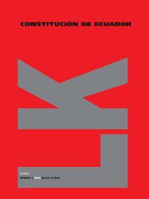 cover image of Constitución de Ecuador de 1998