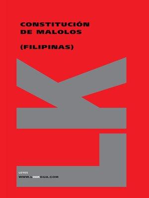 cover image of Constitución de Malolos (Filipinas)