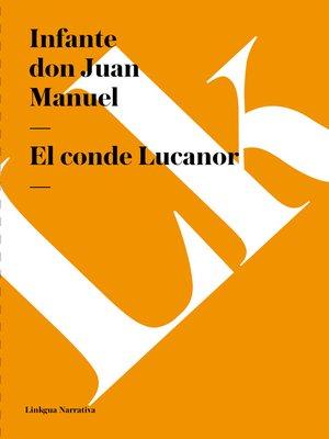 cover image of El conde Lucanor
