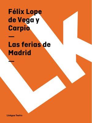 cover image of Las ferias de Madrid