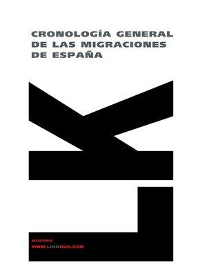 cover image of Cronología general de las migraciones de España