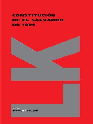 cover image of Constitución de El Salvador 1996
