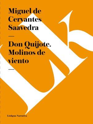 cover image of Don Quijote. Molinos de viento