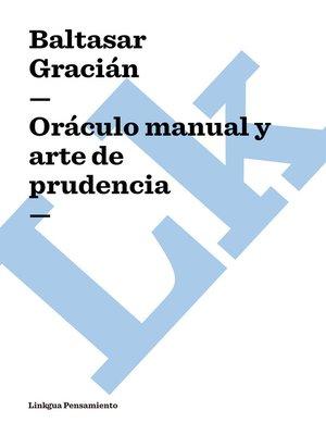 cover image of Oráculo manual y arte de prudencia