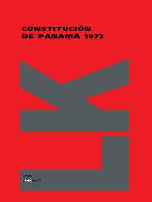 cover image of Constitución de Panamá 1972