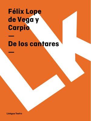 cover image of De los cantares