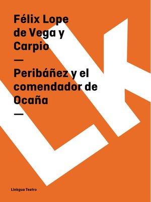 cover image of Peribáñez y el comendador de Ocaña