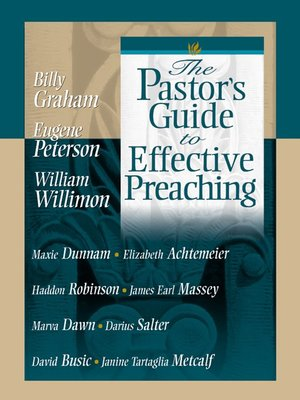 cover image of The Pastor's Guide to Effective Preaching
