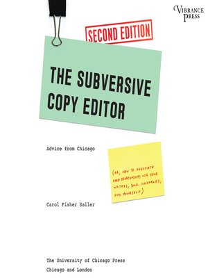 cover image of The Subversive Copy Editor