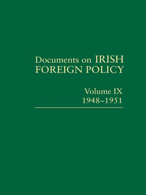 cover image of Documents on Irish Foreign Policy IX