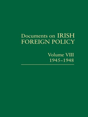 cover image of Documents on Irish Foreign Policy VIII