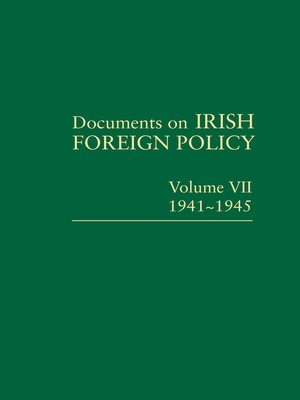 cover image of Documents on Irish Foreign Policy VII