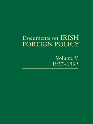 cover image of Documents on Irish Foreign Policy V