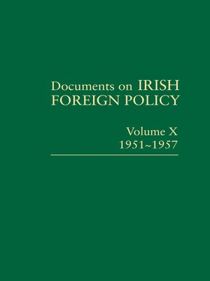cover image of Documents on Irish Foreign Policy X