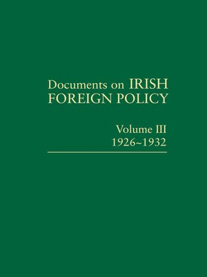 cover image of Documents on Irish Foreign Policy III