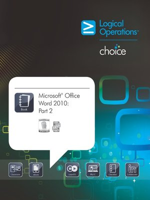 cover image of Microsoft Office Word 2010, Part 2