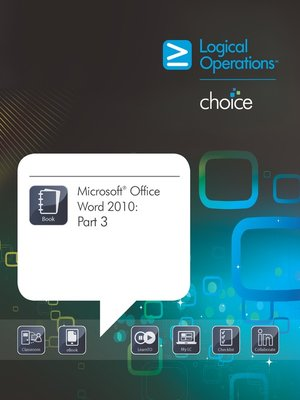 cover image of Microsoft Office Word 2010, Part 3