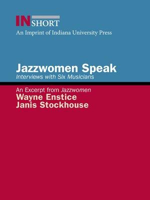 cover image of Jazzwomen Speak