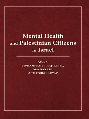cover image of Mental Health and Palestinian Citizens in Israel