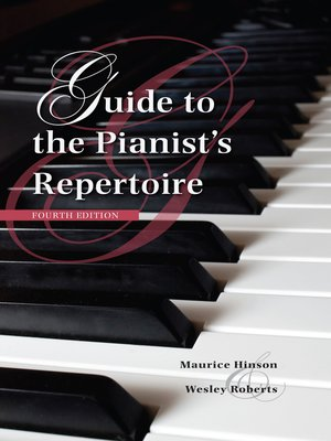 cover image of Guide to the Pianist's Repertoire