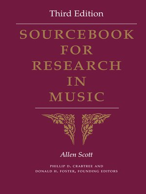 cover image of Sourcebook for Research in Music