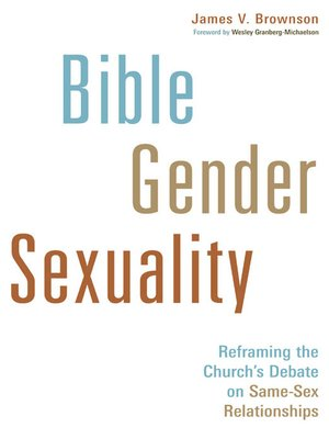 cover image of Bible, Gender, Sexuality