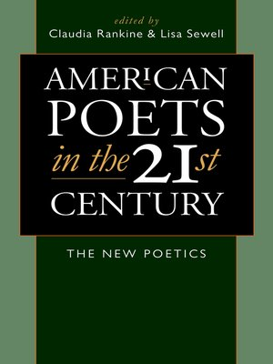 cover image of American Poets in the 21st Century