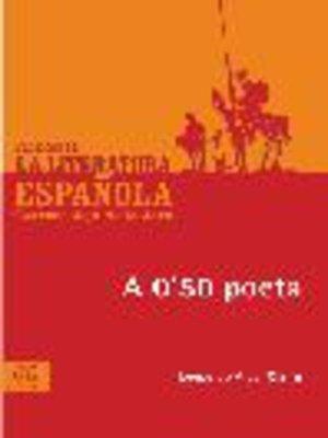 cover image of A 0'50 poeta