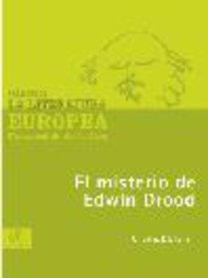 cover image of El misterio de Edwin Drood