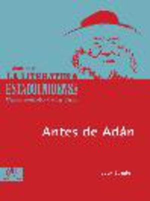 cover image of Antes de Adán